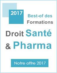 Best of des formations Droit Santé & Pharma 2016