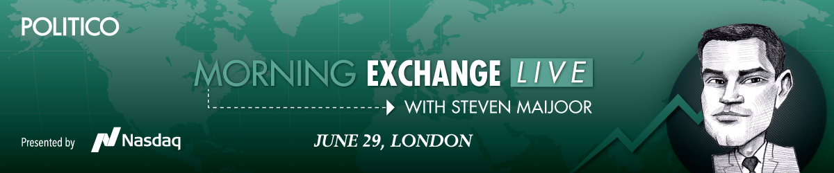 Morning Exchange Live Steven Maijoor header