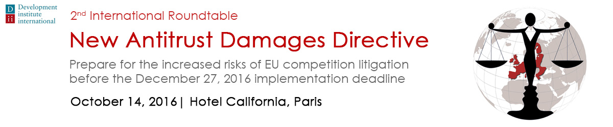 EU Antitrust Damage Directive - 2016 event