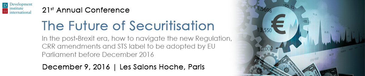 The future of securitisation conference header